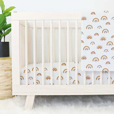 Cannon's Earthy Neutral Rainbow Crib Bedding for the nursery