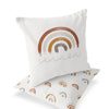 Cannon's Earthy Rainbow Custom Name Throw Pillow