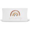 Cannon's Earthy Neutral Rainbow Personalized Changing Pad Cover