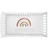 Cannon's Earthy Neutral Rainbow Personalized Crib Sheet