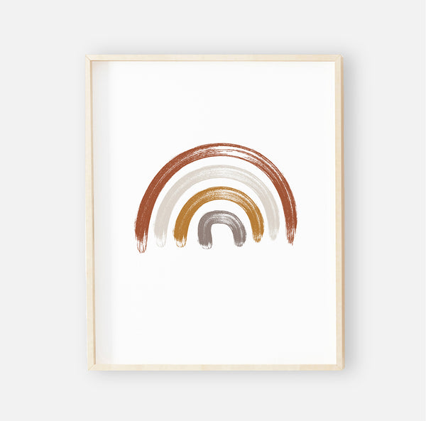 Neutral Rainbow Digital Download Nursery Wall Art