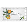 personalized crib sheet with oranges