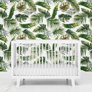 palm leaf removeable wallpaper