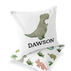 Dawson's Dino Friends Custom Name Throw Pillow