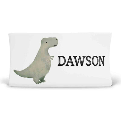 Dawson's Dino Friends Personalized Changing Pad Cover