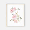 Delaney Dusty Blush Floral Bundled Digital Nursery Art