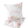 Delaney's Dusty Blush Floral Custom Name Throw Pillow