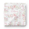 Delaney's Dusty Blush Personalized Baby Name Swaddle Blanket