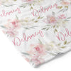 Delaney Dusty Blush Floral Personalized Toddler Blanket