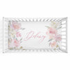 Delaney's Dusty Rose Sweet Blush Floral Personalized Crib Sheet