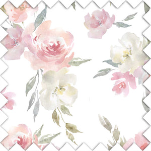 Delaney's Dusty Rose Sweet Blush Floral Fabric Swatch