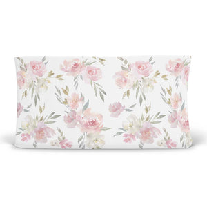 Delaney's Dusty Rose Sweet Blush Floral Changing Pad Cover