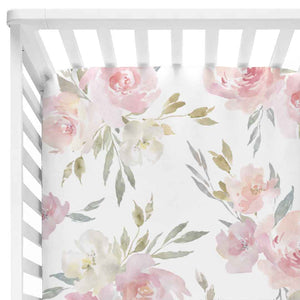 Delaney's Dusty Blush Floral Baby Bedding