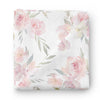 blush pink and dusty pink floral super soft swaddle for newborn