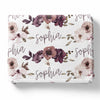 Demi's Dusty Purple Floral Personalized Toddler Blanket