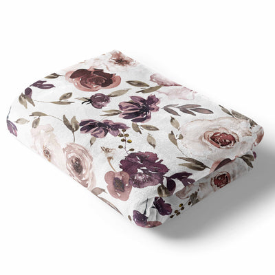 Demi's Dusty Purple Floral Nursery Collection
