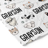 puppy dog personalized soft toddler kid blanket