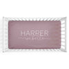 personalized crib sheet mauve