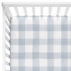 Dusty Blue Gingham Baby Bedding