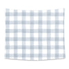 Dusty Blue Gingham Printed Wall Tapestry