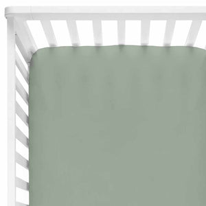 Solid Moss Knit Crib Sheet