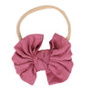 Solid Dusty Rose Knit Bow Headband