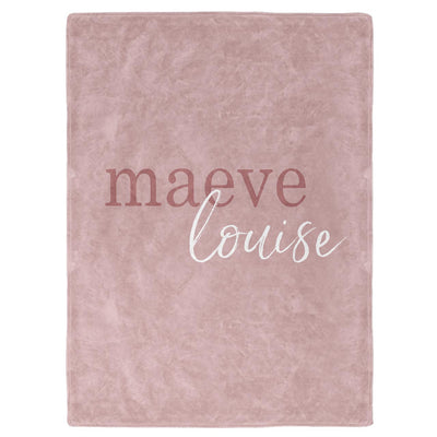 Mauve Color Story Personalized Name Soft Fleece Toddler Throw Blanket