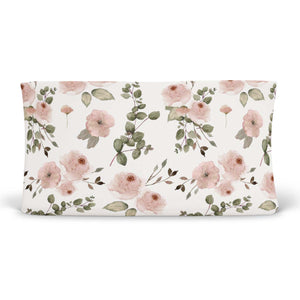 millie's dusty rose garden knit changing pad cover