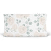 Eleanor's Sage & Ivory Floral Sweet white changing pad cover