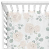 Eleanor's Sage & Ivory Floral white crib sheet
