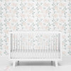 Eleanor's Ivory Floral Removable Wallpaper for the nursery
