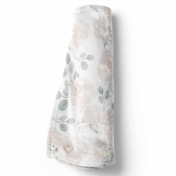 Eleanor's Sage & Ivory Floral Baby, Toddler, Throw BLanket