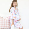 Ella's Dusty Rose Floral Knit Maternity and Delivery Robe