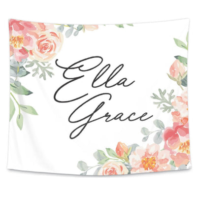 Dusty Rose Personalized Wall Tapestry