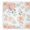 Vintage style blush pink and dusty rose floral changing pad cover