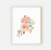 Ella's Dusty Rose Floral Digital Wall Art