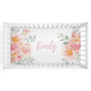 Ella's Dusty Rose Floral Personalized Fitted Crib Sheet