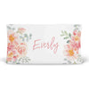 Ella's Dusty Rose Floral Personalized Fitted Changing Pad Cover