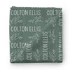 Personalized Emerald Baby Name Swaddle Blanket - Block & Script