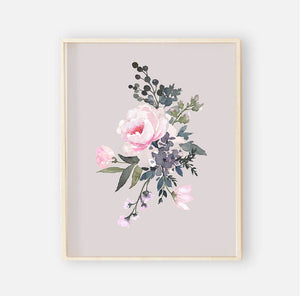 Tatum's Taupe Pink and Ivory Digital Wall Art