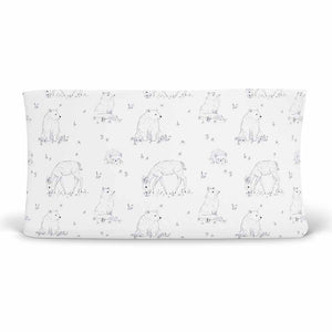 Weston's Woodland Changing Pad Cover with deer, bears, and foxes