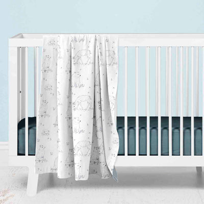 Weston's Woodland Baby Bedding gray and Navy