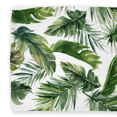 Dark Green Forest Palm Changing Pad Cover