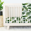 Dark Green Forest Palm Crib Bedding Set