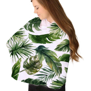 Stretchy Dark Green Forest Palm Multi-Use Cover