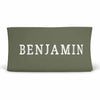 Personalized Olive Green Jersey Knit Changing Table Cover in Block Print
