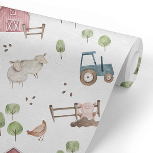 Frankie's Farm Party Removable Wallpaper