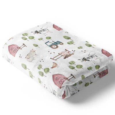 frankie's Farm party soft minky baby blanket