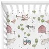 frankie's farm party soft knit crib sheet