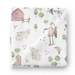 Frankie's Farm Party Oversized Swaddle Blanket